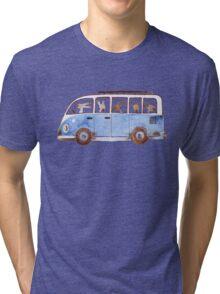 Bunny in Vintage Volkswagen Tri-blend T-Shirt