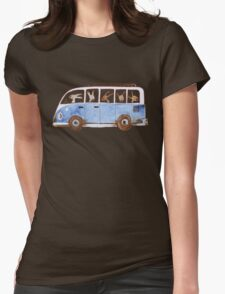 Bunny in Vintage Volkswagen Womens Fitted T-Shirt