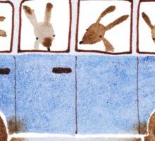 Bunny in Vintage Volkswagen Sticker