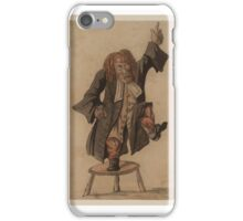 Attributed to Charles Bunbury Title Tub-Thumping Preacher iPhone Case/Skin