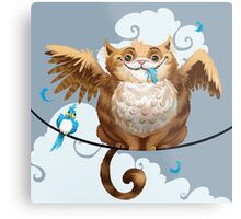 The Hungry Kitty Cat Metal Print