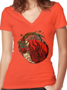 The Goddess Women's Fitted V-Neck T-Shirt
