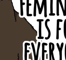 Feminism is For Everyone - Feminist Cat Sticker