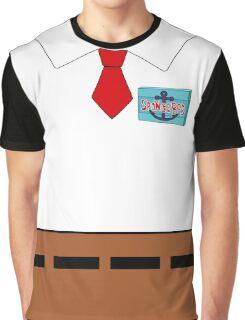 Spongebob SquarePants Name Badge Graphic T-Shirt