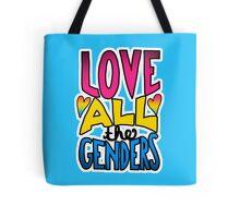 Love All The Genders Pansexual Pride Statement Tote Bag