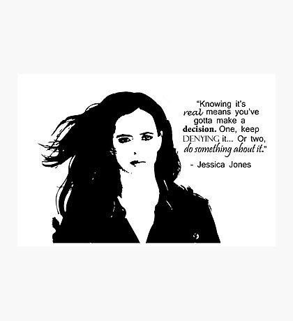 "Jessica Jones - ""Do something about it"" Photographic Print"