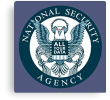 national security agency ( parody ) Canvas Print