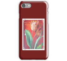 Mother's Day Greetings Red and Yellow Tulips iPhone Case/Skin