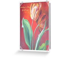Mother's Day Greetings Red and Yellow Tulips Greeting Card