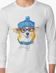 the corgi dog  Long Sleeve T-Shirt