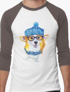 the corgi dog  Men's Baseball ¾ T-Shirt