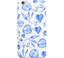 pattern fruit blue iPhone Case/Skin