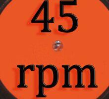 Vinyl record vintage 45 rpm 7 inch single Sticker