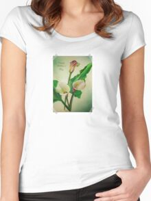 Happy Mother's Day - Scrap Book Calla's Women's Fitted Scoop T-Shirt