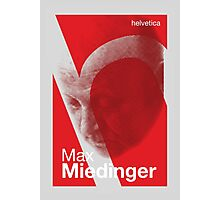 Max Miedinger (type designer of Helvetica) Photographic Print