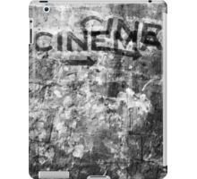 The black and white mystery of cinematography iPad Case/Skin