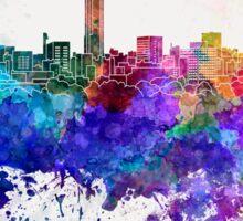 Hiroshima skyline in watercolor background Sticker