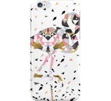 Cute geometric Flamingo abstract design iPhone Case/Skin