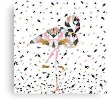 Cute geometric Flamingo abstract design Canvas Print