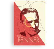Paul Renner (type designer of Futura) Canvas Print