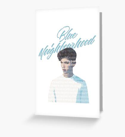 Blue Neighborhood Lyrics  Greeting Card