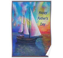 Happy Father's Day Bodrum Turquoise Coast Gulet Cruise Poster