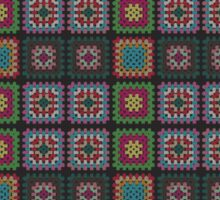 Crochet Square Pattern Design Sticker