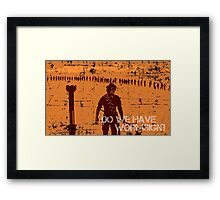 Do We Have Wormsign? - Inspired by Dune Framed Print