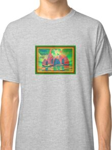 Happy Father's Day Sea of Green With Cubist Abstract Junks  Classic T-Shirt
