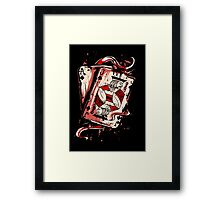Playing To Win Ace and Jack of Spades Framed Print