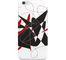 Bull caught in a barbed wire  iPhone Case/Skin