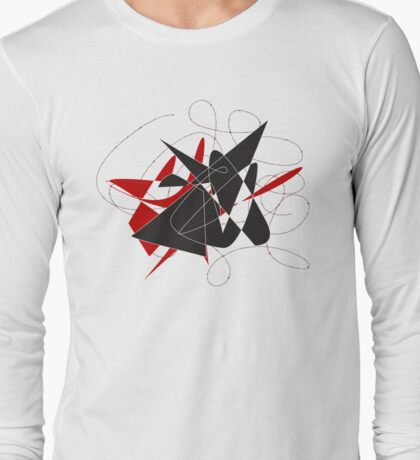 Bull caught in a barbed wire  Long Sleeve T-Shirt