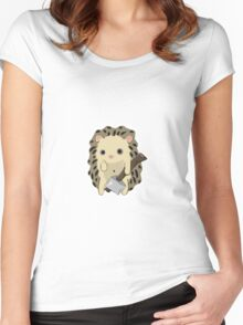 Henry the pissed off hedgehog Women's Fitted Scoop T-Shirt