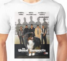 Australian Shepherd  - The Usual Suspects Movie Poster Unisex T-Shirt