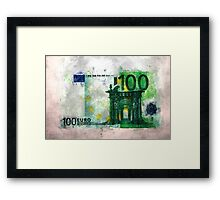 100 euro impressionism painting Framed Print