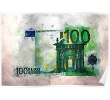 100 euro impressionism painting Poster