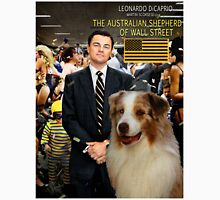 Australian Shepherd - The Wolf of Wall Street Movie Poster T-Shirt