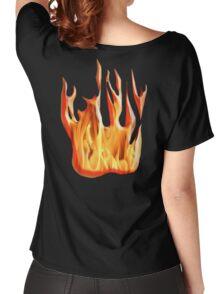 HELL FIRE, FIRE, BLAZE, BURN, IGNITE, FLAME, HEAT, LIGHT, WARMTH Women's Relaxed Fit T-Shirt