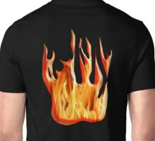 HELL FIRE, FIRE, BLAZE, BURN, IGNITE, FLAME, HEAT, LIGHT, WARMTH Unisex T-Shirt