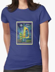 Birthday Wishes Junk By The Light Of The Silvery Moon Womens Fitted T-Shirt