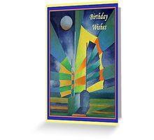 Birthday Wishes Junk By The Light Of The Silvery Moon Greeting Card
