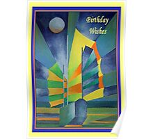 Birthday Wishes Junk By The Light Of The Silvery Moon Poster