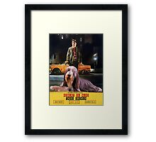 Bearded Collie - Taxi Driver Movie Poster Framed Print