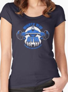 Mighty Blue Gym Women's Fitted Scoop T-Shirt