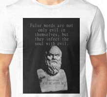 False Words Are Not Only Evil - Socrates Unisex T-Shirt