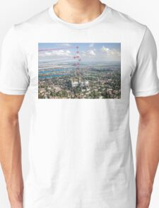 Red Arrows over Lincoln smoke on Unisex T-Shirt