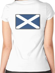 Scotland, SNP, S.N.P, Scottish Independence, Scottish Flag, Saltire, Scots, Flag of Scotland, Pure & Simple Women's Fitted Scoop T-Shirt