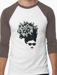 Red Lips Men's Baseball ¾ T-Shirt
