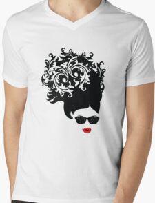 Red Lips Mens V-Neck T-Shirt