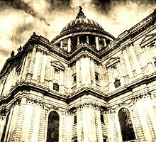 St Paul's Cathedral London Vintage by DavidHornchurch